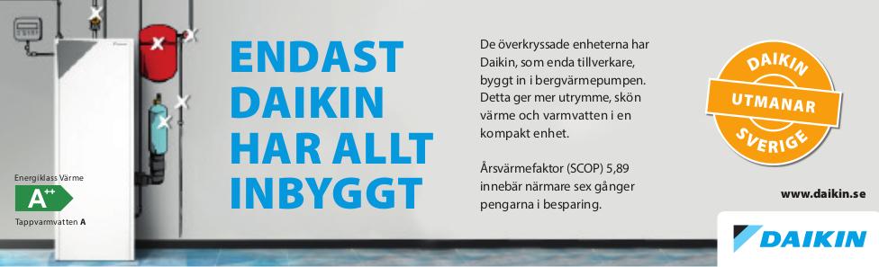 Daikin Bergvärme Uppsala